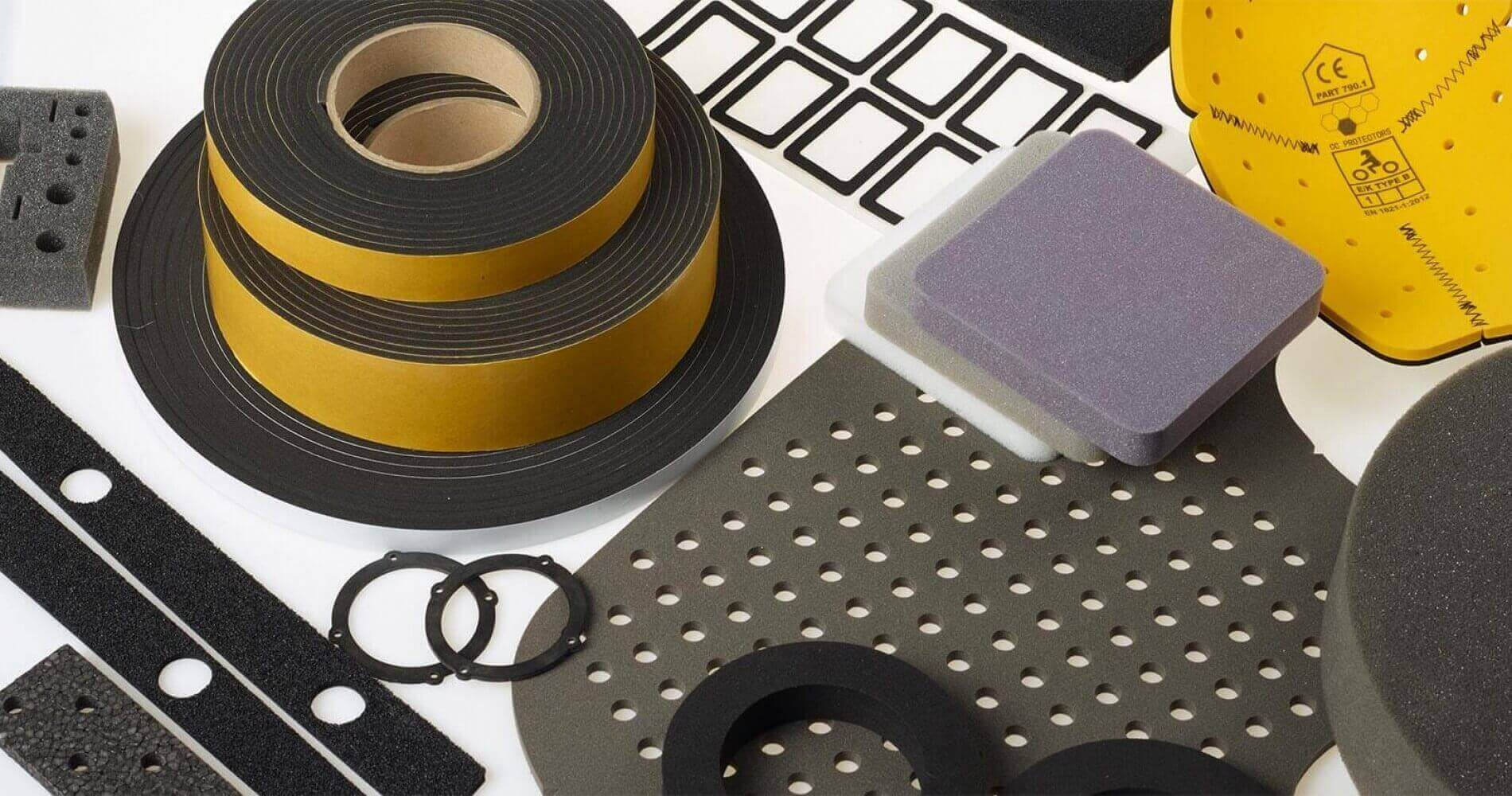 Rubber and foam materials